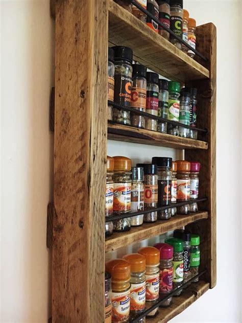 diy barn wood spice rack rustic spice rack reclaimed wood kitchen storage wood