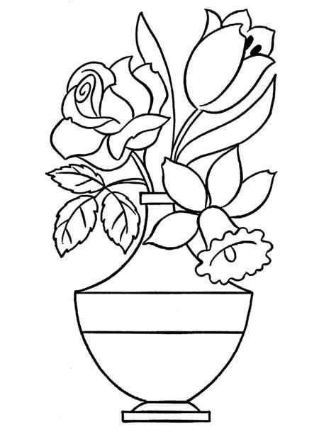 vaso di fiori disegno vaso di fiori da colorare