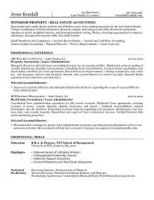 property management resume exles images