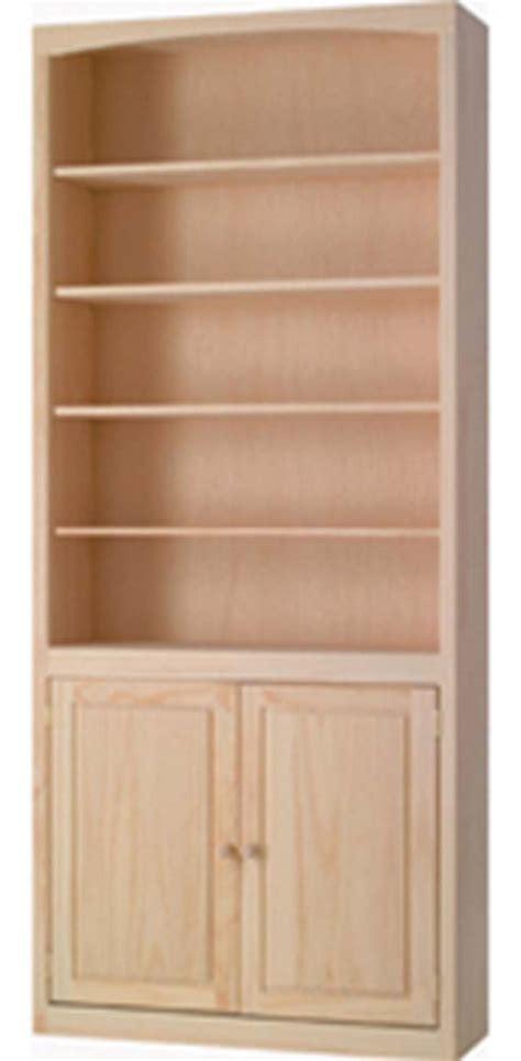 archbold furniture 36 quot wide pine bookcase w doors oak