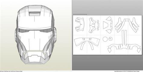 Foamcraft Pdo File Template For Iron Man Mark 7 Full Armor Foam Iron Helmet Template Pdf