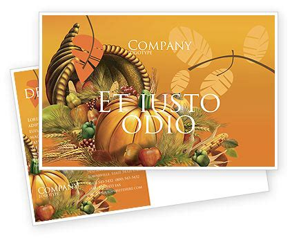 Thanksgiving Day Postcard Template In Microsoft Word Adobe Indesign 02819 Download Now Thanksgiving Postcard Template