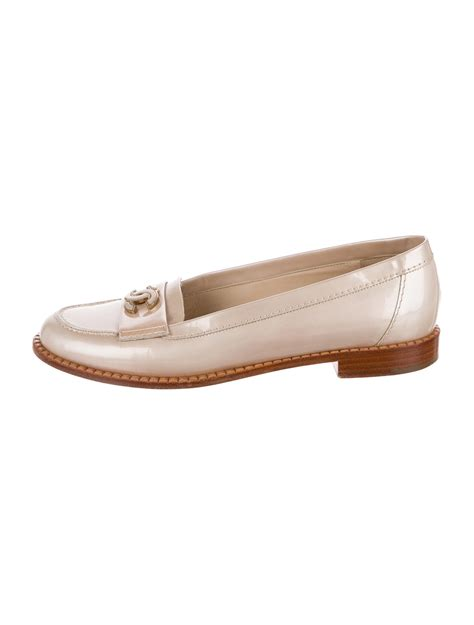 chanel loafers chanel cc patent leather loafers shoes cha203520 the