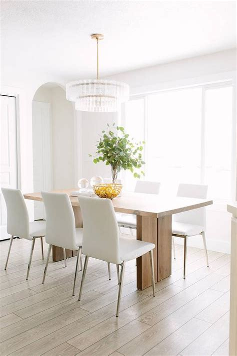 white leather chairs for dining table side table in black