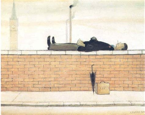 Wall L by L S Lowry Lowry Original Lying On A Wall