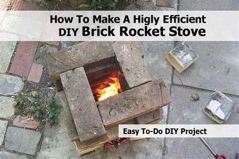 higly efficient diy brick rocket stove