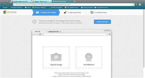 ganti wallpaper google chrome migrasi linux mengganti background google chrome