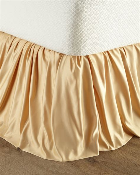 gold bed skirt giselle queen king dust skirt gold one size
