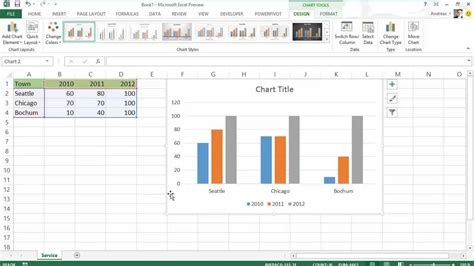 apa format style exle excel 2013 diagramme charts neu in office 2013 youtube