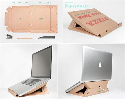 how to make unique laptop computer stand with pizza box