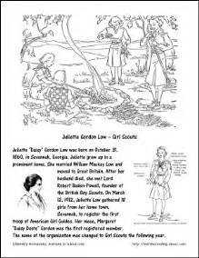 juliette gordon low girl scouts coloring page october