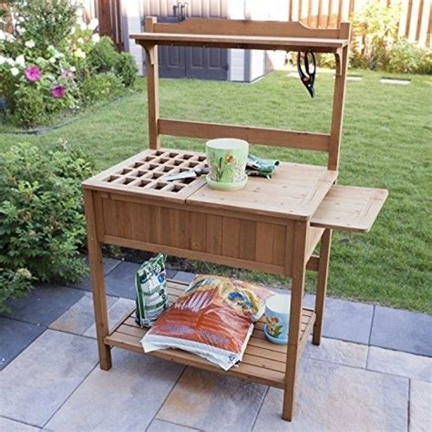 planting benches garden potting bench wood planting storage work station