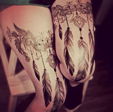 dreamcatcher garter tattoo 120 best images about victorian tattoos on pinterest