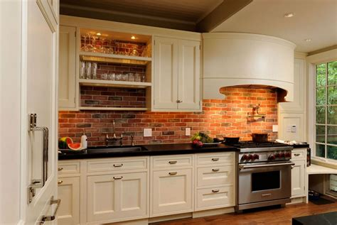 kitchen brick backsplash brick backsplash design