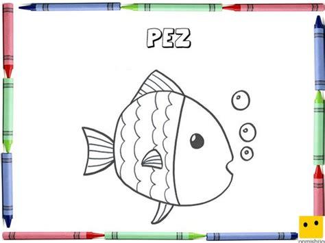 dibujos para colorear con los ni os de animales marinos imprimir dibujo para colorear con los ni 241 os de un pez