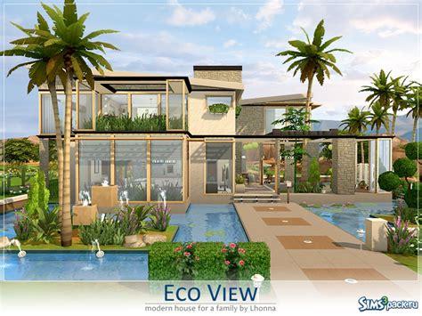 eco haus living скачать дом eco view от lhonna для симс 4 бесплатные