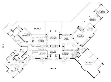 house plans with guest wing ranch style house plan 5 beds 5 50 baths 5884 sq ft plan
