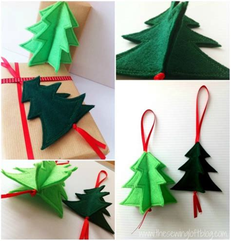 3d paper christmas tree with ribbon 3d ornament easy 3d felt tree ornament