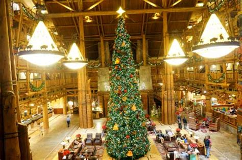 amazing christmas decorations at disney s wilderness lodge