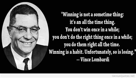Wise quotes from Vince Lombardi