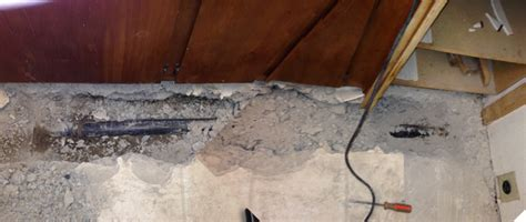 Slab Plumbing Repair by We Need To Through The Concrete Slab To Make The