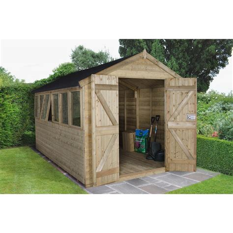 shed installation shedswarehouse com hanbury 12ft x 8ft pressure treated