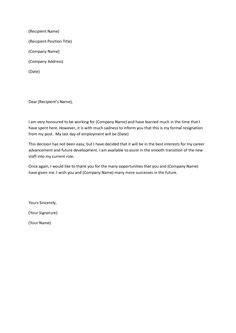 Resignation Letter Llc Member Two Week Resignation Letter Sles Resignation Letter2 Resignation Letters 101 Ddj