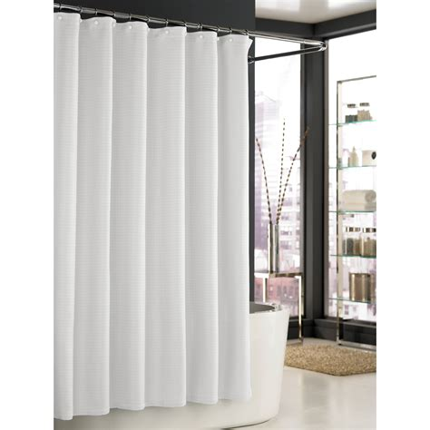 white bathroom curtains kassatex trump mar a lago spa waffle shower curtain white