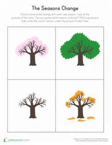 changing seasons worksheet education com