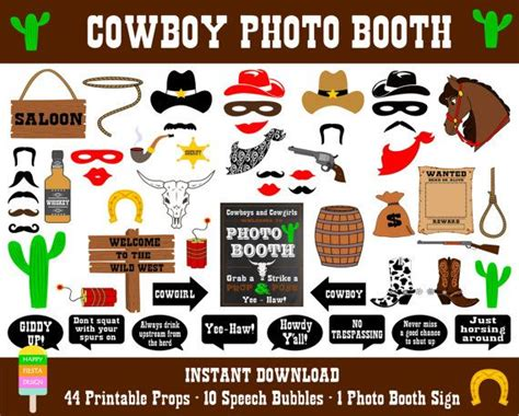 free printable photo booth props cowboy 25 best ideas about western photo booths on pinterest