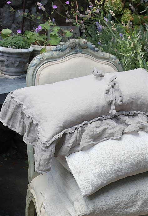 French Bed Linens - antique french linens trouvais