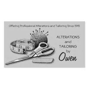 create your own tailor business cards