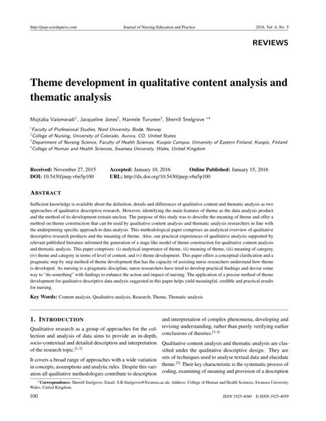 themes in qualitative research pdf theme development in qualitative content pdf download