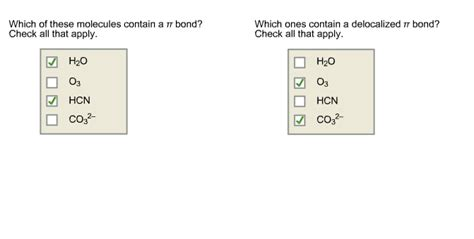 7 I Would To See In A Bond by Solved Which Of These Molecules Contain A Pi Bond Check
