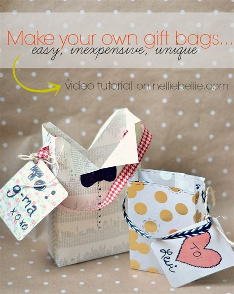 for to make as gifts how to make a gift bag tutorial