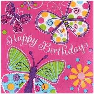 Butterfly Birthday Decorations Butterfly Party Happy Birthday Lunch Napkins 16