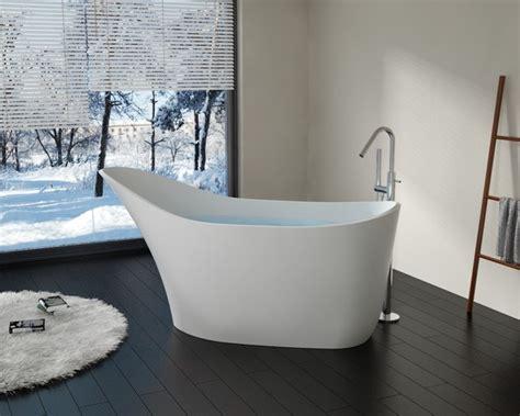 freestanding stone resin bathtubs badeloft upc cert modern slipper stone resin