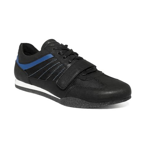 guess sneakers mens guess mens shoes arko3 sneakers in black for black