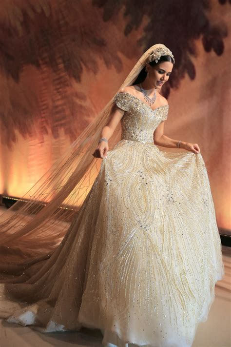 Dana Wolley Zayat | the most luxurious wedding dress of dana wolley zayat got