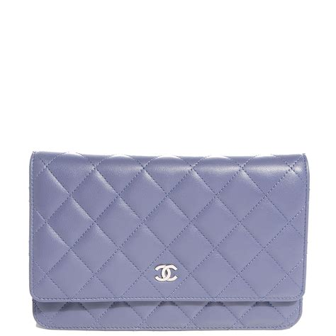 Chanel Quilted Wallet by Chanel Lambskin Quilted Wallet On Chain Woc Lavender 86404