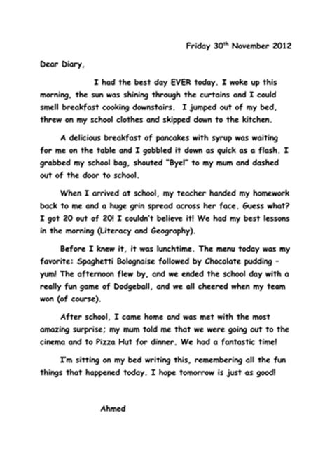 diary writing template ks2 wagoll diary entry by sh2810 teaching resources tes