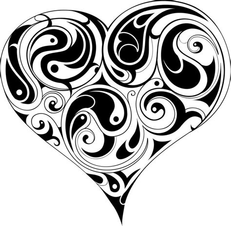 imagenes de rosas trival corazones tribales dise 241 os imagui