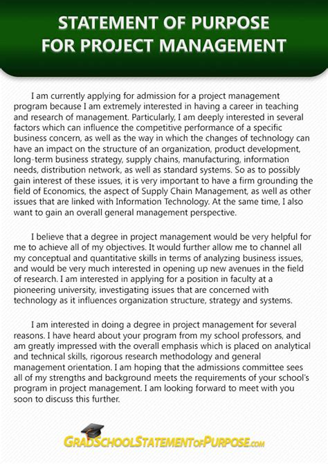 Statement Of Purpose For Mba In Business Management by If You Don T How To Write A Project Management
