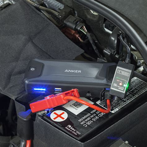 anker yellow light anker compact car jump starter and portable charger yellow