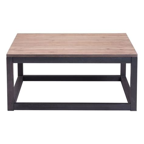 Distressed Square Coffee Table Zuo Civic Center Square Coffee Table In Distressed 98122