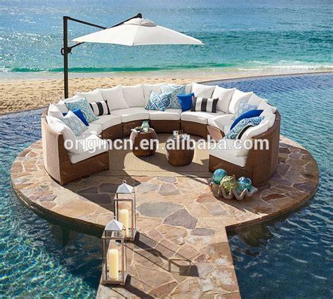 semi circle patio furniture sector shape patio wicker semi circle sectional broyhill
