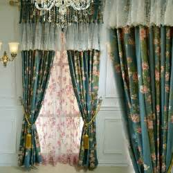 Country Style Curtains American Country Style Curtain Without Valance Print With Beautiful Floral