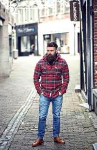 lumberjack style thick beard and mustache undercut beards bearded