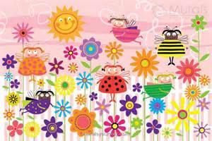 Deer Wall Mural ladybug garden kids wall mural wallpaper mural ideas 13017