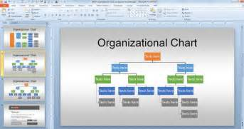 Powerpoint 2010 Edit Template by Free Org Chart Powerpoint Template